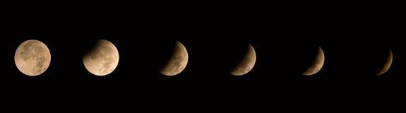 2010蚀月球至日冬天 图库摄影