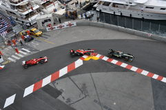 2010辆汽车全部组摩纳哥prix 图库摄影