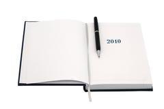 2010黑色组织者笔 免版税库存照片