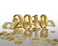 2010 år för deltagare för helgdagsaftoninbjudan nya Royaltyfri Bild