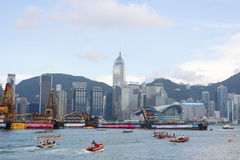 2010 łódkowatych smoka Hong int kong l rasy obrazy stock