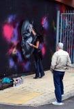 2010 γκράφιτι φράσσουν το Λο&n Στοκ Εικόνα