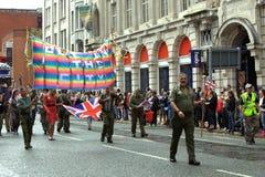 2010 голубых гордостей Великобритания парада manchester Стоковая Фотография