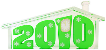 2010 диаграмм стеклянная зеленая дом Иллюстрация штока