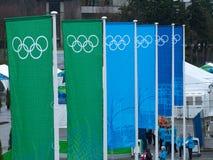 2010 знамен олимпийский vancouver Стоковая Фотография RF