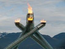 2010 пламя олимпийский vancouver Стоковое Изображение RF