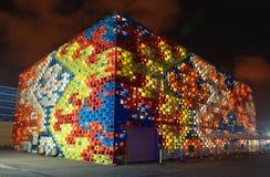 2010年商展亭子塞尔维亚上海 免版税库存照片