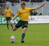 2010年澳洲意大利符合橄榄球测试与 免版税库存图片