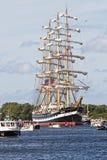 2010年阿姆斯特丹游行风帆 库存照片