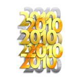 2010. A collage of 2010 numerals / logos, produced in similar styles that could be used on the front of diaries, scrap books excetra Royalty Free Stock Image