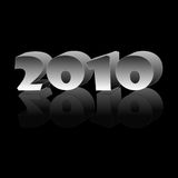 2010. New Year 2010 on a black background stock illustration