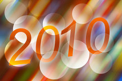 2010. Abstract colorful background -New Year of 2010 Stock Image