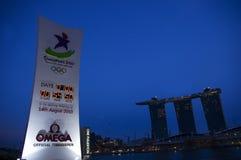 2010场比赛奥林匹克新加坡青年时期 库存图片