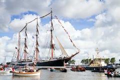2010年阿姆斯特丹游行风帆 库存图片