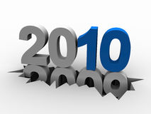 2010 2009. 2010 versus 2009. 3d rendering illustration royalty free illustration