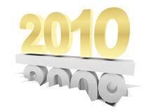 2010 2009. 2010 versus 2009. 3d rendering illustration Stock Photo