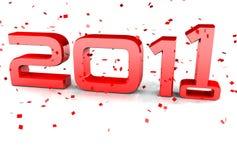 2010 2011愉快新对年 免版税图库摄影