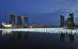 2010 2011 nedräkning singapore Arkivfoto