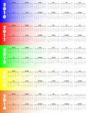 2010 2014五年的日历 免版税库存照片