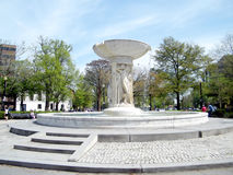 华盛顿在杜邦广场的喷泉2010年 免版税库存照片