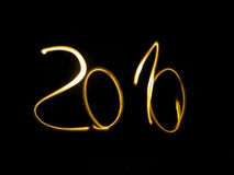 2010. Written in gold on black background Stock Photo