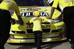 2010 all hand som lånar den nascar racestjärnan Royaltyfri Bild