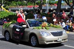2010 aloha festivalhawaii miss Arkivbild