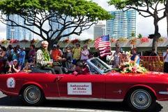 2010 aloha hawaianska ambassadörfestivaler Arkivbild