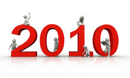 2010 anos ilustração stock