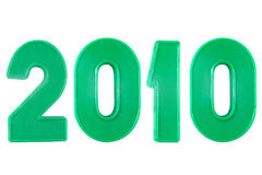 2010 anos dos números plásticos Fotografia de Stock Royalty Free