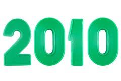 2010 ans des nombres en plastique Photographie stock libre de droits