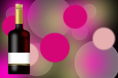 2010 ans neufs de jour de Champagne de fond de bouteille Images stock