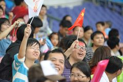 2010 Asian Games-watching match Stock Photo