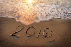 2010 auf dem Strand Lizenzfreies Stockfoto