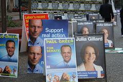 2010 australiensiska val Royaltyfri Bild