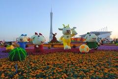 2010 Aziatische Spelen - Vierkant Haixinsha van Guangzhou stock afbeeldingen
