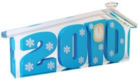 2010 błękitny postaci szkło dom Obrazy Stock