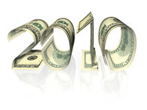 2010 banknotów inskrypcja odizolowywająca zrobił Zdjęcia Stock