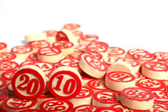 2010 bingo numbers isolated Royalty Free Stock Photography