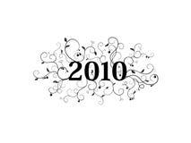 2010 blom- isolerade prydnad Arkivbild