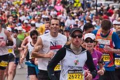 2010 Boston Marathon Runners Stock Photo