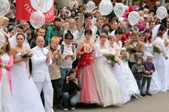 2010 brudar ståtar fotografering för bildbyråer