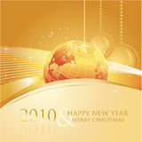 2010 business greeting card. Vector illustration of greeting card with business motive Stock Illustration