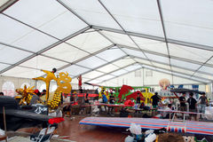 2010 byka flugtag Hong kong czerwień zdjęcia stock