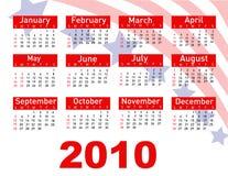 2010 calendar. Illustration art vector illustration
