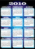 2010 Calendar. Vector Illustration of 2010 Calendar with all 12 months Stock Photo