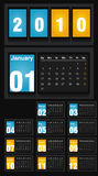 2010 Calendar Royalty Free Stock Images