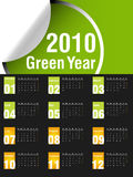 2010 Calendar. Vector illustration of 2010 Calendar, easy to edit Stock Image