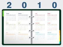 2010 Calendar. Vector illustration of 2010 Calendar, easy to edit Stock Photo
