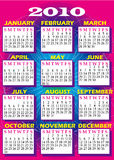 2010 Calendar 2. Vector Illustration of 2010 Calendar with all 12 months Stock Images